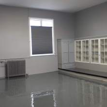 The prepped storage space at St. March Parish, Hamilton.