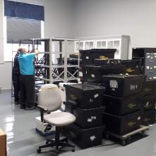 Moving into the new space.
