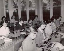 Photograph of Students in Typing Class, Brantford, [195?], (DHA.001.180)